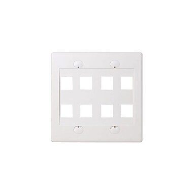 Belkin™ 8 Socket Double Gang Wallplate, White
