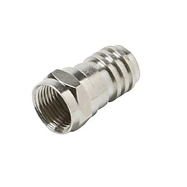 STEREN® 200-030-25 F Hex Crimp Connector With Crimp Sleeve RG-59
