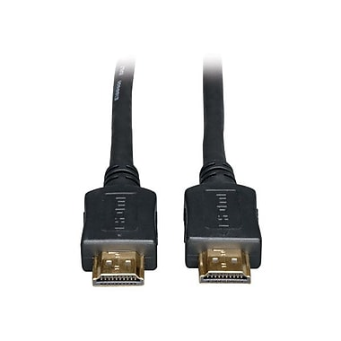 Tripp Lite 50' High Speed Plenum Rated Gold HDMI Cable, Black