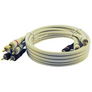 STEREN® 6' Premium Component 3 RCA Video Cable, Ivory