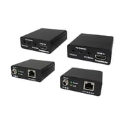 Comprehensive® HDBaseT Over Cat5e/6 up to 330' Twisted Pair HDMI RS-232 Extender, Black