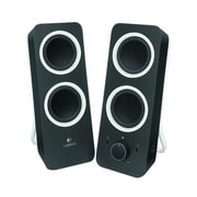 Logitech® Z200 10 W Multimedia Speaker System, Midnight Black,