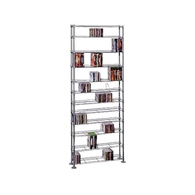 Atlantic® Maxx 12 76.8in. x 33.4in. x 8.1in. Maxsteel 12-Tier Multimedia Storage Rack, Silver