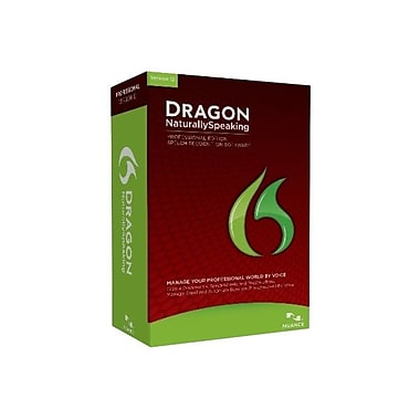 Nuance® Dragon Naturally Speaking v.12.0 Professional 1 User Software, Academic
