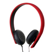 Mizco ECKU Fusion Over The Head Headphones With Mic & Controller, Red