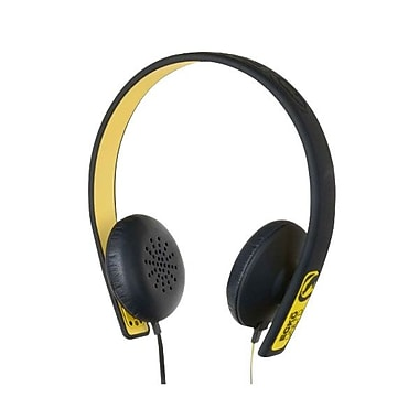 Mizco ECKU Fusion Over The Head Headphones With Mic & Controller, Yellow