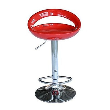 Aosom Modern Pub Barstools (Set of 2); Red