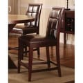 Modus Hudson Dining Biscuit Back Counter Stool in Coffee Bean (Set of 2)