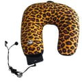 Nek Pillow Neck Pillow Super Deluxe with Hoody; Leopard