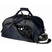 Royce Leather Royce Leather Full Grain Cowhide Travel Duffel Bag with Shoe Compartment; Black