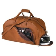 Royce Leather Royce Leather Full Grain Cowhide Travel Duffel Bag with Shoe Compartment; Tan