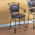 Wildon Home   Bingham Springs 24'' Bar Chair with Arms and Cushion Seat in Black
