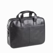 Clava Leather Tuscan Top Handle Briefcase in Black