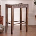 William Sheppee Saddler 30'' Bar Stool in Walnut Stain