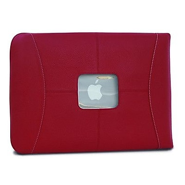 MacCase Premium Leather 15'' MacBook Pro Sleeve in Red