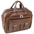 Siamod Vernazza Guidoni Laptop Leather Briefcase; Black