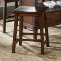Liberty Furniture Cabin Fever Formal Dining Sawhorse Barstool in Bistro Brown