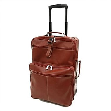 Piel Blushing Red Collection 22'' Wheeled Traveler Suitcase; Black