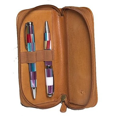Aston Leather Leather Pen Case; Tan