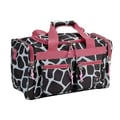 Rockland 19'' Carry-On Duffel; Pink Giraffe