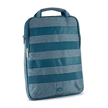 Lug Slider Laptop Pouch; Ocean Blue