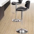 dCOR design Glide Barstool in Black