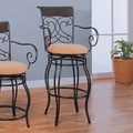 Wildon Home   Belknap Springs 29'' Bar Chair with Arms in Dark Brown