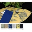 Pacific Table Linens Bouquet Reversible Wedge Placemat (Set of 2); Navy / Snow