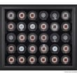 Mounted Memories 30 Hockey Puck Display Case; Black