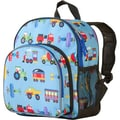 Wildkin Train, Planes and Trucks Olive Kids Pack'n Snack Backpack