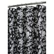 Watershed Prints Polyester Floral Swirl Shower Curtain; Black / White
