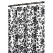 Watershed Prints Polyester Floral Swirl Shower Curtain; White / Black