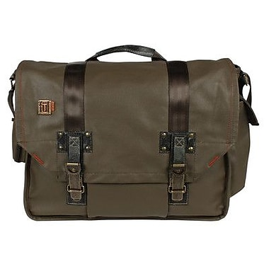 FUL Ampt Laptop Messenger Bag; Olive