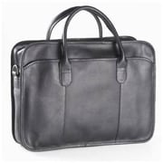 Clava Leather Vachetta Classic Top Handle Briefcase in Black