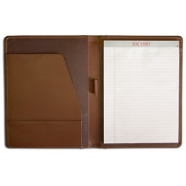 Dacasso Leather Portfolios Top-Grain Standard Padfolio in Chocolate