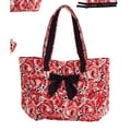 Jessie Steele Deco Rose Bow Tote Bag