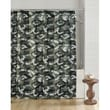 Browning Buckmark Camo Cotton Blend Shower Curtain; Green