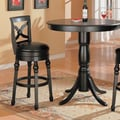 Wildon Home   Littleton 32'' Back Bar Chair in Black