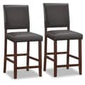 Leick Upholstered Back Counter Stool (Set of 2); 30''