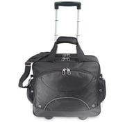 U.S. Traveler Rolling Computer Briefcase in Black