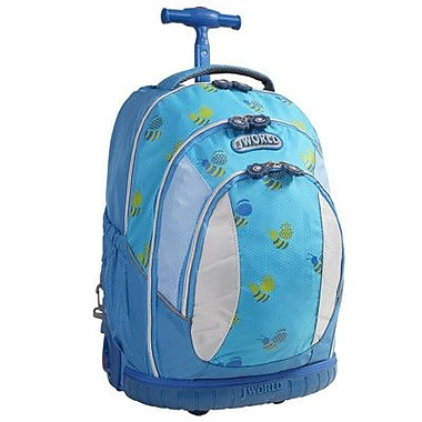 J World Sweet Kid's Ergonomic Rolling Backpack; Bees