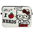 Hello Kitty 'I Love Nerds' Laptop Case for MacBook