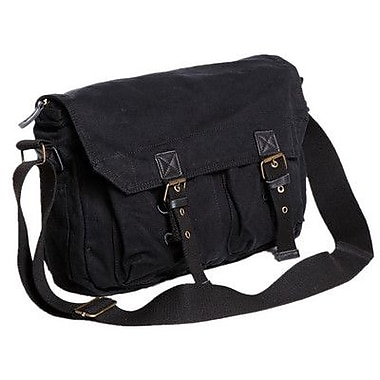 Vagabond Traveler Messenger Bag; Black