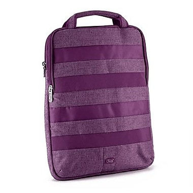Lug Slider Laptop Pouch; Plum Purple