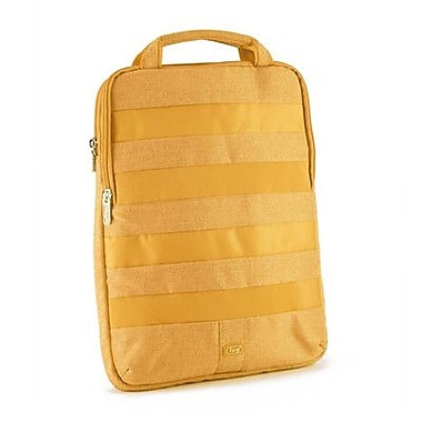 Lug Slider Laptop Pouch; Marigold Yellow