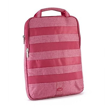 Lug Slider Laptop Pouch; Rose Pink
