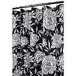 Watershed Prints Polyester Peony Shower Curtain; Black / White