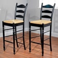 TMS 30'' Ladder Back Stool in Black (Set of 2)