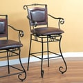 Wildon Home   Bingham Springs 29'' Bar Chair with Arms and Cushion Seat in Black