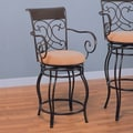 Wildon Home   Belknap Springs 24'' Bar Chair with Arms in Dark Brown